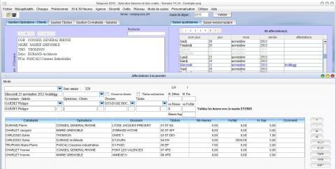 logiciel pointage des heures Séquora 2015 V11.24