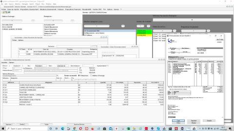 Amélioration du modèle de facture du suivi de chantier et de facturation Gescant pour mac et pc 16.17