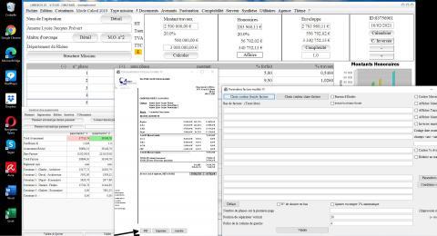Nouveau bouton pdf modele 15 de facture du logiciel de facturation des honoraires de Maîtrise d'Oeuvre Médicis 23.06
