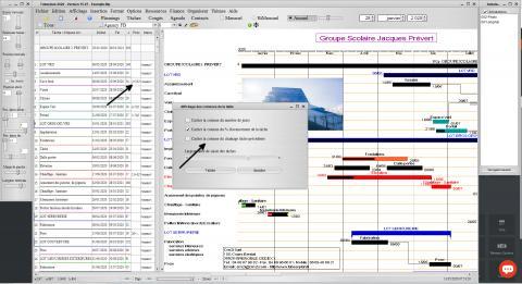 chaînage des tâches planning pro mac catalina et pc windows v15.07
