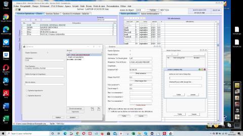 amélioration des charges fixes des dossiers d'operations/clients dans la gestion des temps passés et le pointage des heures Sequora 16.05