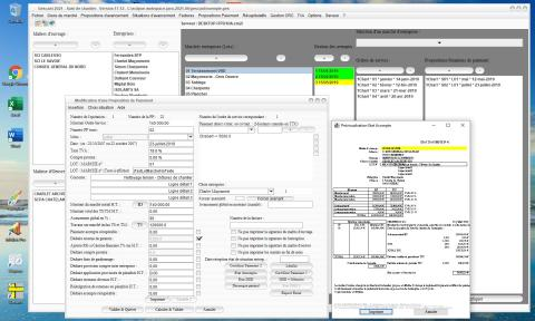 Amélioration de l'état d'acompte du logiciel de suivi de chantier Gescant Mac et PC 17.13