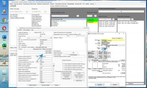 Amélioration de l'état d'acompte n°1 du logiciel suivi de chantier Gescant Mac et PC 17.08
