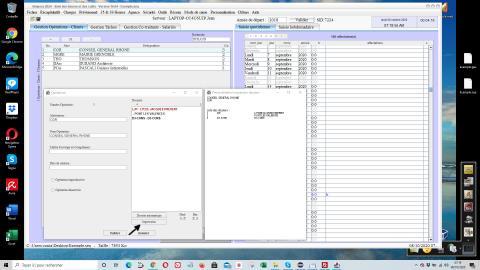 amélioration de l'impression des dossiers des opérations/clients dans la gestion des temps passés et du pointage heures Séquora 16.05