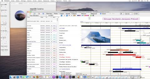 nouvelle version du logiciel de planning Faberplan pour Mac OS X catalina