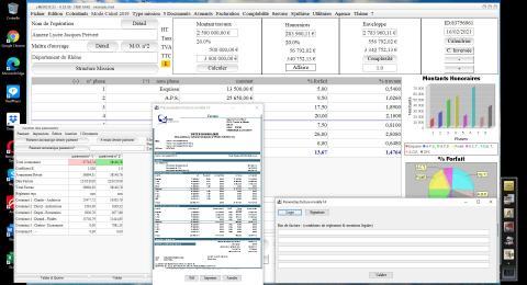 Amélioration du Modèle 14 de facture du logiciel de Facturation des Honoraires de Maîtrise d'Oeuvre Médicis 23.06