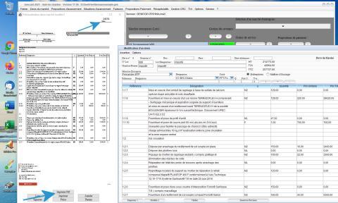 Modèle 2 de Devis du Logiciel de suivi de Chantier et Facturation Gescant Mac et PC 17.06