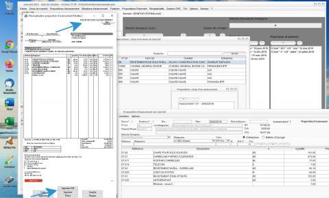 Modèle 2 de Proposition d'Avancement du Logiciel de Suivi de Chantier et Facturation Gescant Mac et PC 17.06