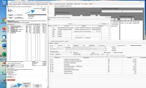 Modèle 2 de Situation d'Avancement du Logiciel de Suivi de Chantier et Facturation Gescant Mac et PC 17.06