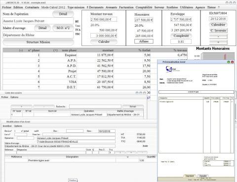 modèle 4 d'avoir dans le logiciel de maîtrise d'oeuvre Médicis pour Mac et PC