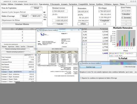 modèle 4 de facture du logiciel de Maîtrise d'Oeuvre Médicis pour Mac et PC