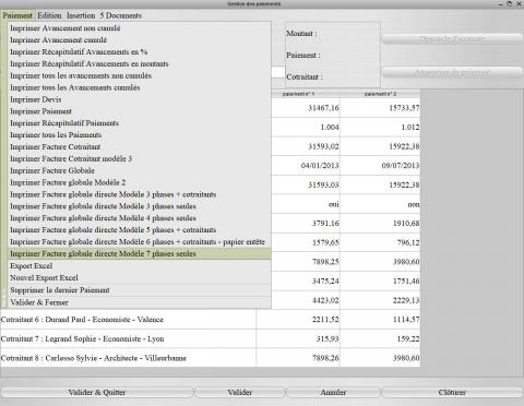 nouveau modèle de facture pour la gestion des honoraires Médicis 19.29