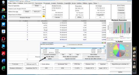 Nouveau bouton nouvelle affaire dans le logiciel de proposition d'honoraires de Maîtrise d'Oeuvre Médicis 23.05 Mac & PC