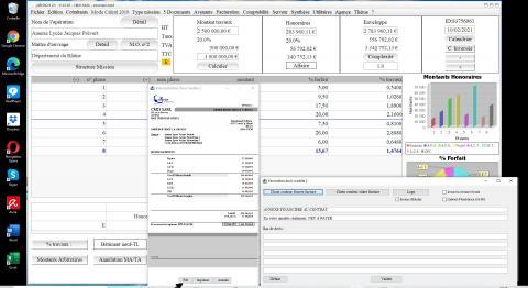 Nouvelle fonction pdf dans le modèle 2 de devis du logiciel de proposition d'honoraires de Maîtrise d'Oeuvre Médicis mac et PC 23.05