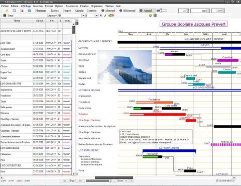 nouvelle version du logiciel de planning proi Mac et Pc Faberplan v14.17