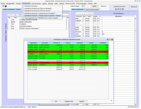 gestion des temps passés et pointage des heures Séquora 14.03 mac et pc