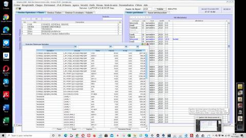 amélioration du récapitulatif des opérations/clients-dossiers-taches dans la gestion des temps passés et le pointage des heures séquora v16.07