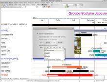 nouvelle impression entre deux tâches logiciel planning Faberplan V12.10