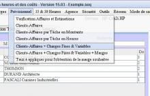 Les prévisionnels dans la saisie des heures et le pointage Séquora pour Mac et PC